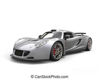 Silver concept supercar