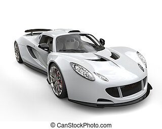 Awesome off white supercar - studio shot