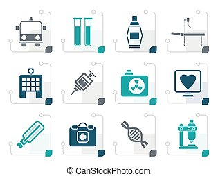 Stylized Medicine and healthcare icons