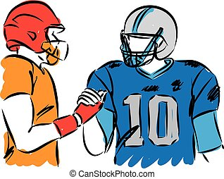 football players vector illustration