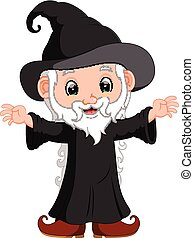 funny witch cartoon - illustration of funny witch cartoon