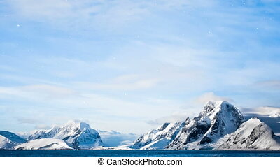 Antarctic Nature: snow-capped mountains - Antarctic Nature....