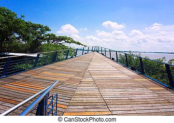 Boardwalk in Guayaquil - Boardwalk on the waterfront in...