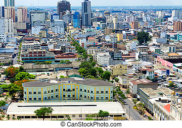 Downtown Guayaquil View - Cityscape view of downtown...