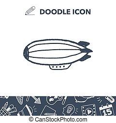 doodle zeppelin