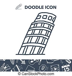 doodle Leaning Tower of Pisa