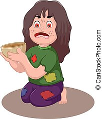 beggar man cartoon for you design - vector illustration of...