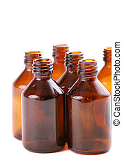 vials - Brown vials for storage of medical preparations and...