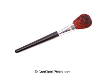 Cosmetic brushes for a make-up, various width and used for...