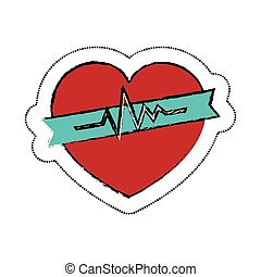 heart cardiology symbol icon vector illustration design