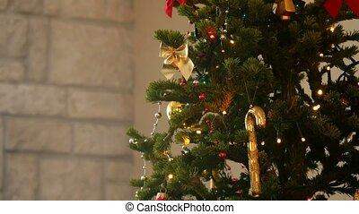Christmas Balls on a Christmas Tree.