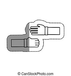hands human deal icon