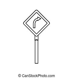 road traffic signal with arrow