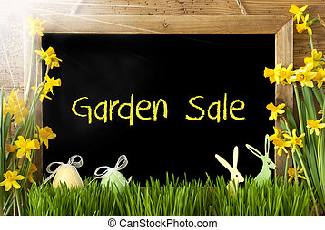 Sunny Narcissus, Easter Egg, Bunny, Text Garden Sale -...