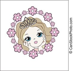 princess in flower - face of the lovely little princess...