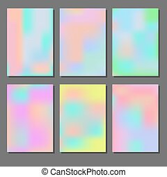 Set of holographic backgrounds. Iridescence different...