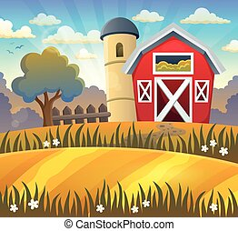 Farmland theme background 2 - eps10 vector illustration.