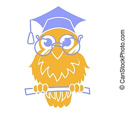 Icon back to school owl