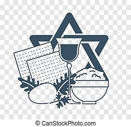 silhouette icon holiday Pesach - Icon on the holiday -...