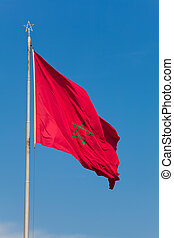 Flag of Morocco, Rabat, Morocco