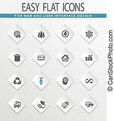 BIO Fuel industry icons set - BIO Fuel industry easy flat...
