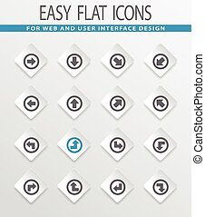 Arrows icons set - Arrows easy flat web icons for user...