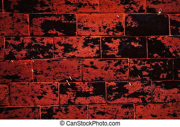 texture of a old brick wall close up