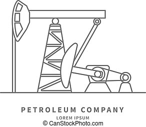 Pumpjack logo - Petroleum Producing Company log with...