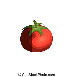 fresh tomato isolated icon