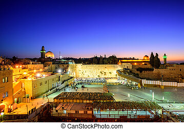 The Western Wall and Temple Mount, Jerusalem, Israel - The...