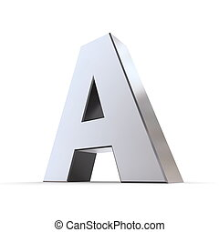 Shiny Letter A