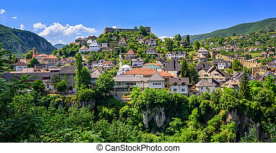 The old town of Jajce, Bosnia and Herzegovina - The old town...