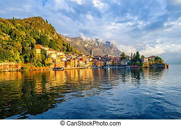 Resort town Varenna on Lake Como, Italy - Resort town...