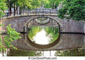 Amsterdam green bridges