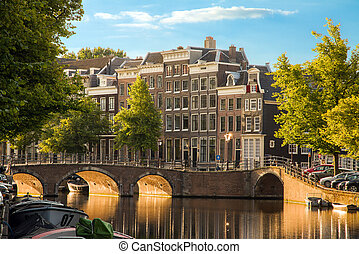 Golden light canals - Beautiful view of the iconic UNESCO...