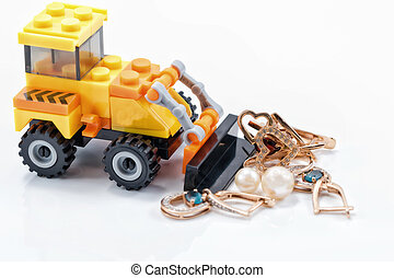 Concept: production and processing of gold ore and precious...