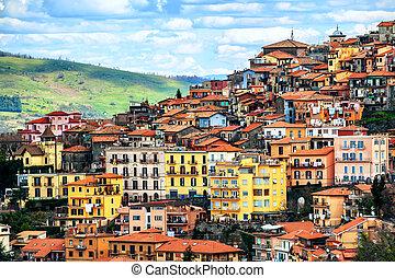 Rocca di Papa town on Alban Hills, Rome, Lazio, Italy -...