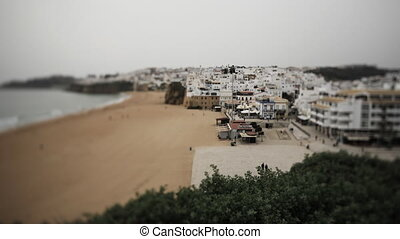 Timelapse of the beach at Albufeira, Portugal on a clear day