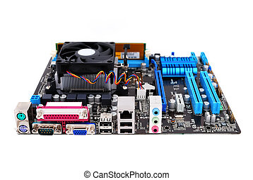 motherboard socket AM3  on a white background