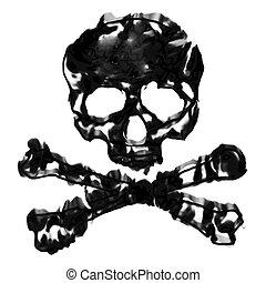 Skull and Crossbones - Skull and cross bones illustration...