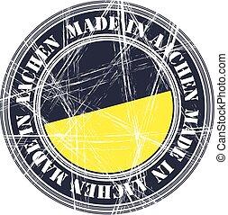 Aachen rubber stamp - Aachen city vector grunge rubber stamp