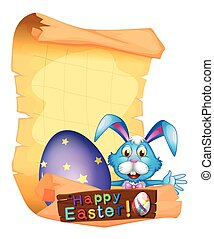 Paper template for Easter holiday illustration