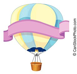 Banner design with balloon in background illustration