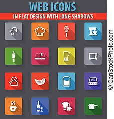 Food and kitchen icons set - Food and kitchen web icons in...