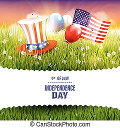 Independence day - Modern Independence day greeting card