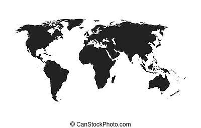 World map - vector.