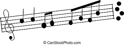 Musical Notes - A simple illustration of some musical notes.