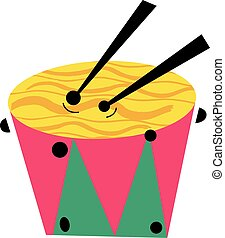 Snare Drum Musical Instrument - Vector Illustration of a...