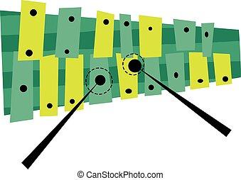 Glockenspiel Musical Instrument - Vector Illustration of a...