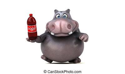 Fun hippo running - 3D Animation